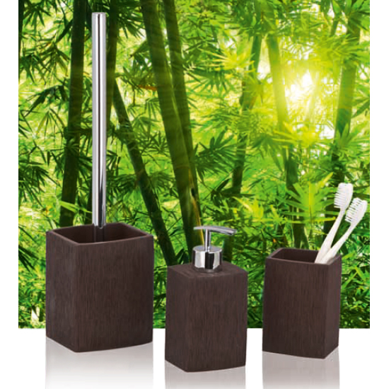 Wenko Recife Bathroom Accessories Set - Brown profile large image view 2