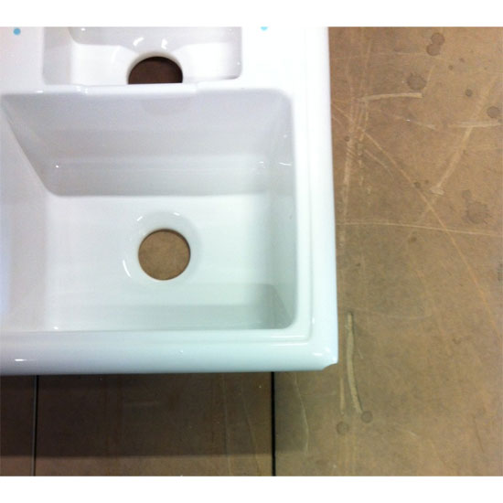 clearance reginox ceramic 1 5 bowl kitchen sink slight