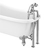 Regent Traditional Bath Shower Mixer Tap with Adjustable Shrouds for Roll Top Baths profile small image view 1