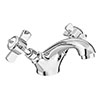 Regent Traditional Mono Basin Mixer with Waste - Chrome profile small image view 1