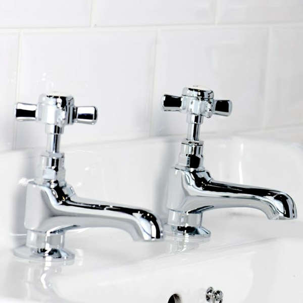 Regent Traditional Basin Taps in Chrome
