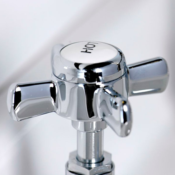 Regent Chrome Traditional Bath Taps Profile Large Image