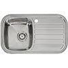 Reginox Regent 10 Lux 1.0 Bowl Stainless Steel Inset Kitchen Sink profile small image view 1