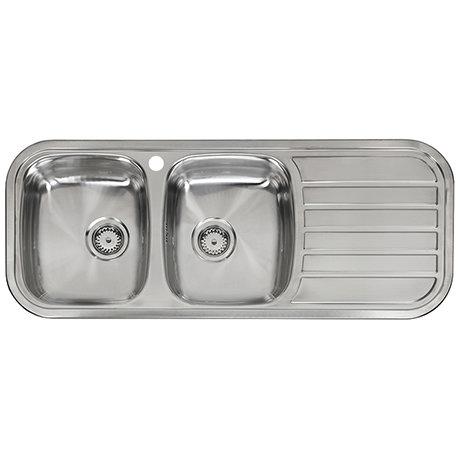 Reginox Regent 30 Lux 2.0 Bowl Stainless Steel Inset Kitchen Sink