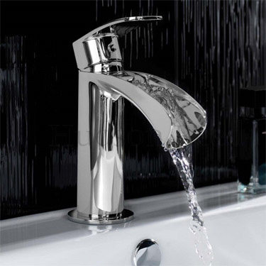 Hudson Reed - Reign Open Spout Mono Basin Mixer without Waste - REI315 profile large image view 2