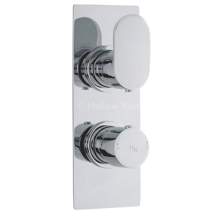 Hudson Reed Reign Twin Concealed Thermostatic Shower Valve - Square Plate - REI3210 Large Image