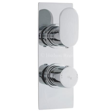 Hudson Reed Reign Twin Concealed Thermostatic Shower Valve - Square Plate - REI3210