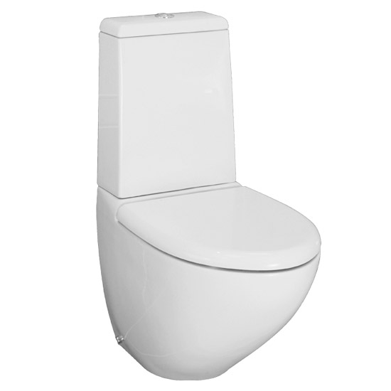 RAK Reserva Close Coupled WC with Soft Close Wrap Over Seat Large Image