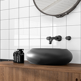 Revive Gloss White Wall Tiles - 120 x 140mm