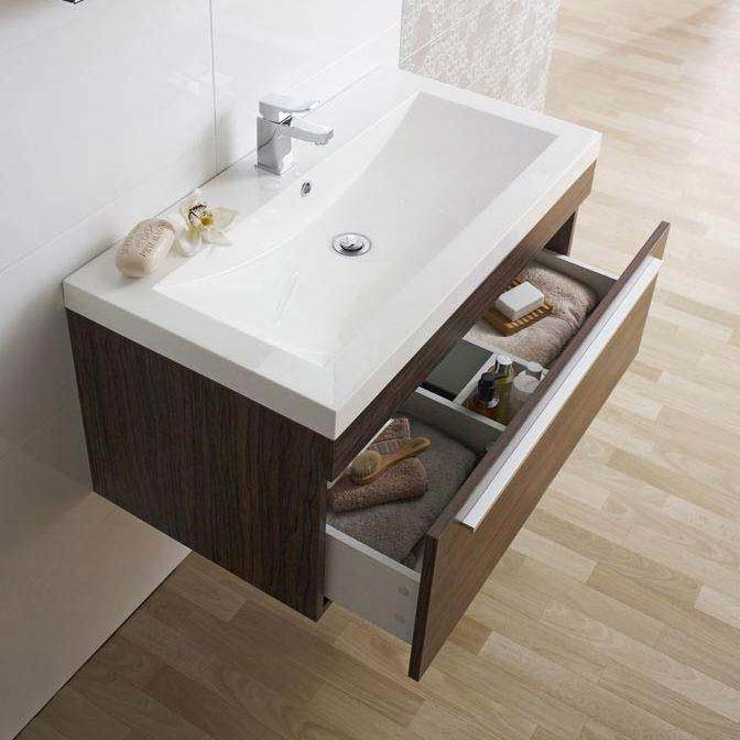 Ultra Glide 900 Basin and Cabinet - Walnut Finish - RF010 profile large image view 2
