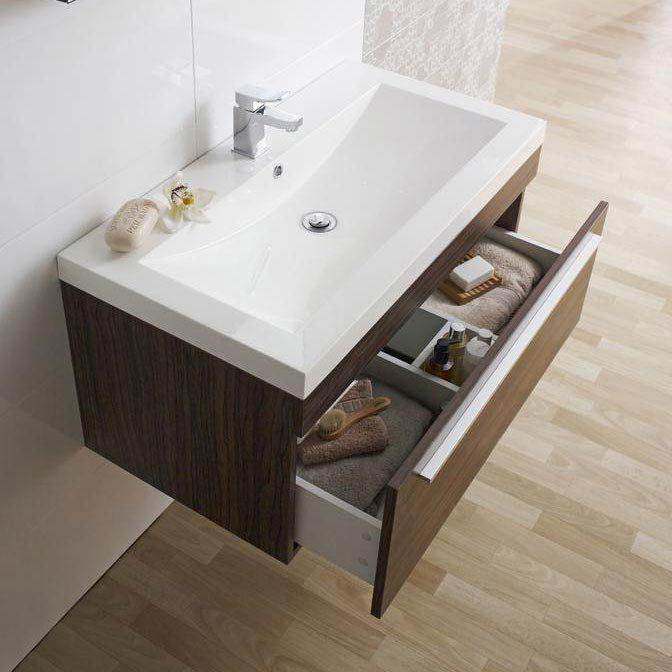 Ultra Glide 900 Basin and Cabinet - Walnut Finish - RF010 Profile Large Image