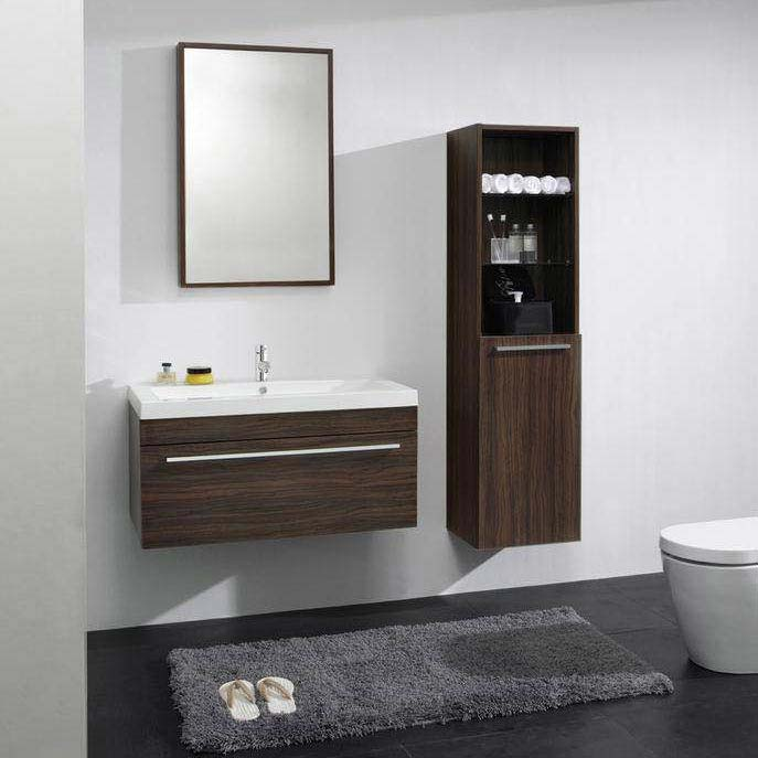 Ultra Glide 900 Basin and Cabinet - Walnut Finish - RF010 profile large image view 3