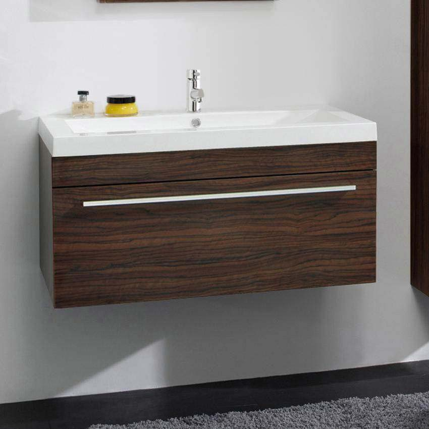 Ultra Glide 900 Basin and Cabinet - Walnut Finish - RF010 profile large image view 1