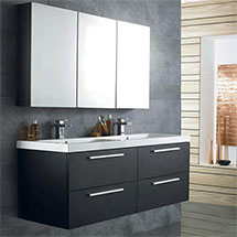 Hudson Reed Black Wood Quartet Furniture Pack - RF014 Medium Image