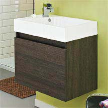 Ultra Zone 600mm Wide Basin and Cabinet - Oak Finish - RF019 Medium Image