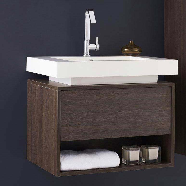 Hudson Reed Recess Basin & Cabinet W700 x D520mm - RF032 Large Image
