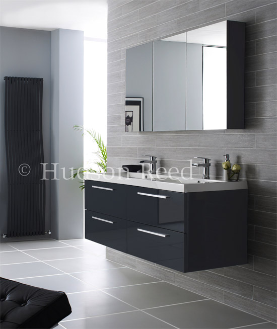 Hudson Reed - Quartet Furniture Pack - High Gloss Grey - RF035 profile large image view 1