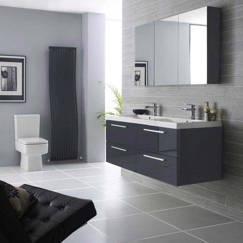 Quartet Gloss Grey Double Vanity Unit | Guide To Creating An Ideal Family Bathroom