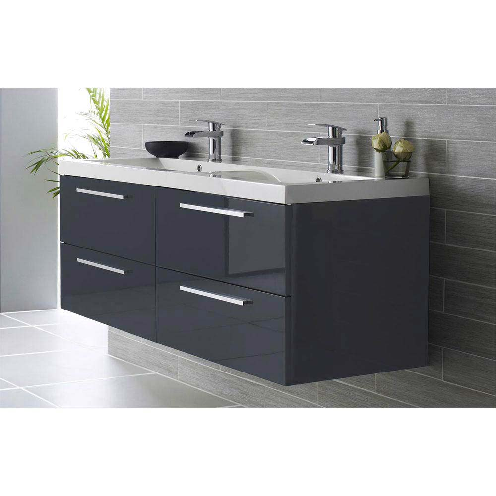 small bathroom sink vanity units. SHOP NOW Hudson Reed Quartet Double Basin Vanity Unit  VictorianPlumbing Co Uk