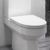 Premium D-Shaped Rapid Fix Soft Close Toilet Seat profile small image view 1