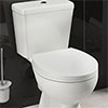 Standard Shaped Rapid Fix Soft Close Toilet Seat profile small image view 1
