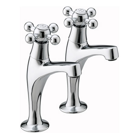 Bristan - Regency High Neck Pillar Taps - RG-HNK-C