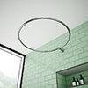 Chatsworth Traditional 850mm Diameter Chrome Circular Shower Curtain Rail profile small image view 1