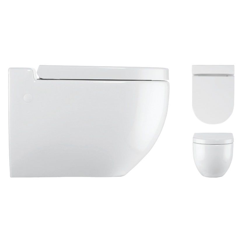 Bauhaus - Stream II Wall Hung Pan with Soft Close Seat Profile Large Image