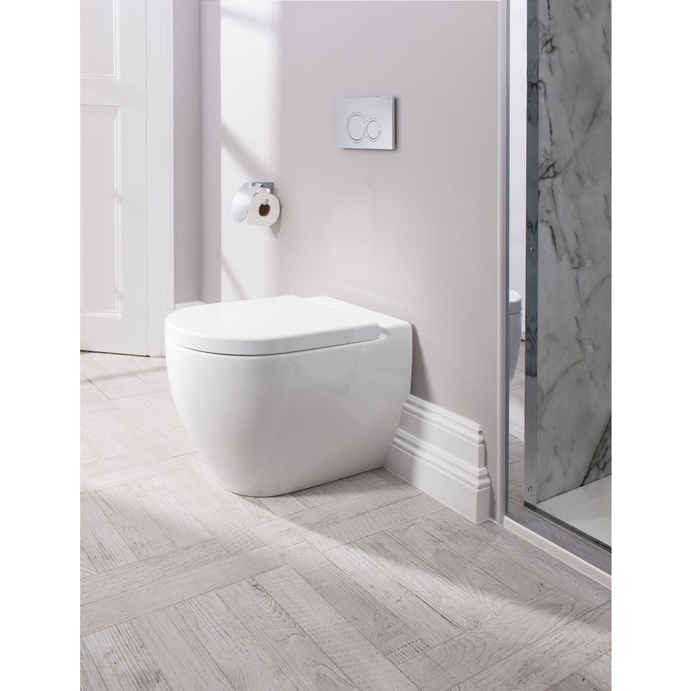 Bauhaus - Stream II Back To Wall Pan with Soft Close Seat profile large image view 3