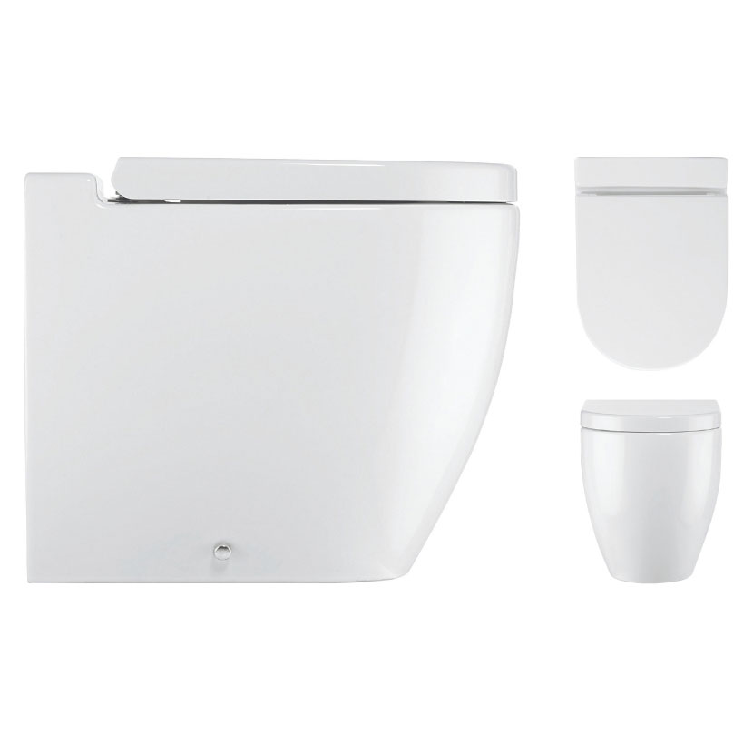 Bauhaus - Stream II Back To Wall Pan with Soft Close Seat profile large image view 2