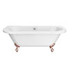 Admiral 1685 Back To Wall Roll Top Bath + Rose Gold Leg Set profile small image view 1