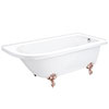 Appleby 1700 Roll Top Shower Bath + Rose Gold Leg Set profile small image view 1