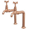 Traditional Rose Gold Kitchen Bib Taps + Upstands profile small image view 1