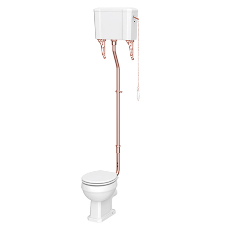 Chatsworth Rose Gold High Level Traditional Toilet
