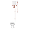 Chatsworth Rose Gold High Level Traditional Toilet profile small image view 1