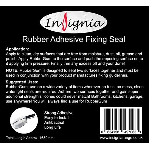 Insignia RubberGum Adhesive Fixing Seal profile large image view 3