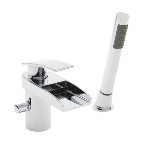Hudson Reed - Rhyme Open Spout Bath/Shower Mixer with Kit - RHY304
