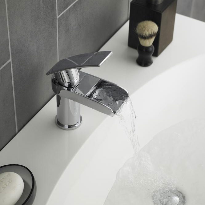 Hudson Reed Rhyme Open Spout Basin Mixer Tap without Waste - RHY305 Profile Large Image