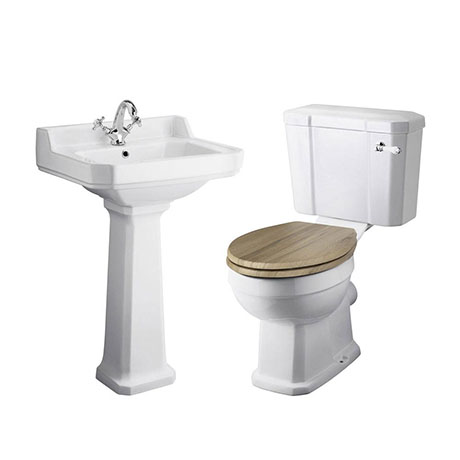 Old London Richmond Traditional Cloakroom Suite - Various Tap Hole Options