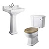 Old London Richmond Traditional Cloakroom Suite - Various Tap Hole Options profile small image view 1