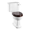Burlington Rimless Close Coupled WC with 440mm Lever Cistern profile small image view 1