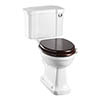 Burlington Rimless Close Coupled WC with 440mm Front Push Button Cistern profile small image view 1