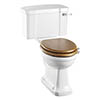 Burlington Rimless Close Coupled WC with 520mm Lever Cistern profile small image view 1