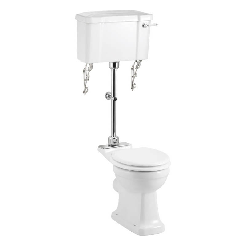 Burlington Rimless Medium Level WC with 520mm Lever Cistern