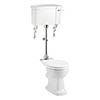 Burlington Rimless Medium Level WC with 520mm Lever Cistern profile small image view 1