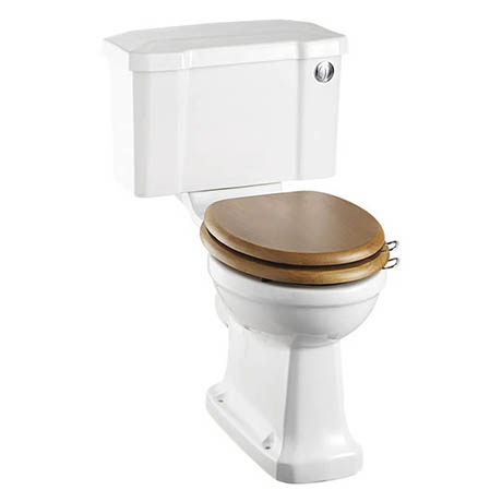 Burlington Rimless Close Coupled WC with 520mm Front Push Button Cistern