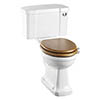 Burlington Rimless Close Coupled WC with 520mm Front Push Button Cistern profile small image view 1