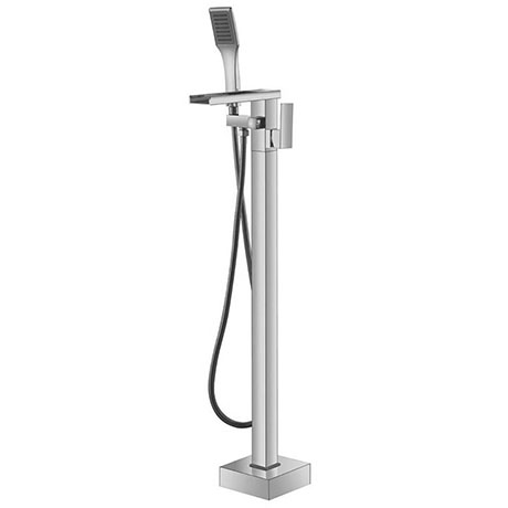 Mayfair Rio Floorstanding Open Spout Bath Shower Mixer Tap with Kit - RIO073