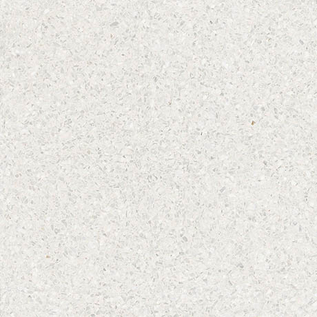 Rivara White Terrazzo Effect Floor Tiles - 608 x 608mm