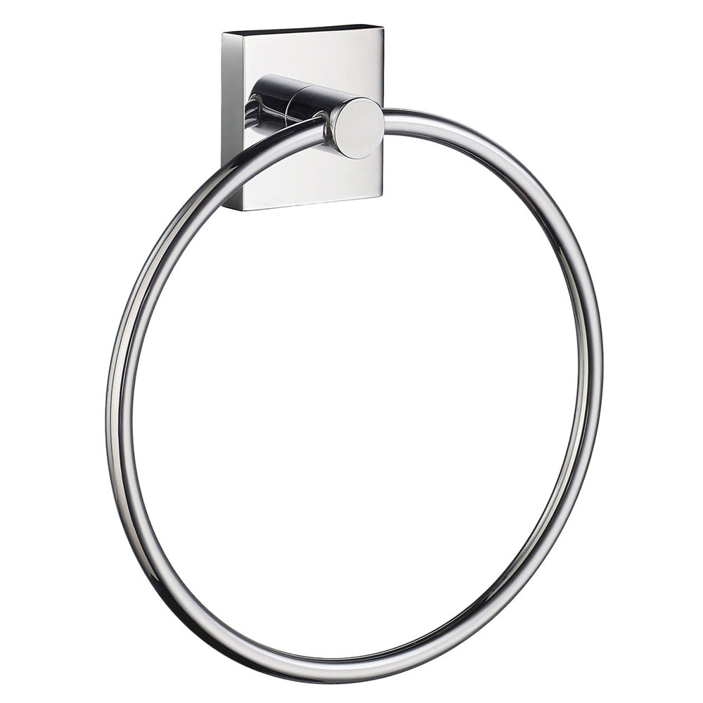 Smedbo House - Polished Chrome Towel Ring - RK344 profile large image view 1
